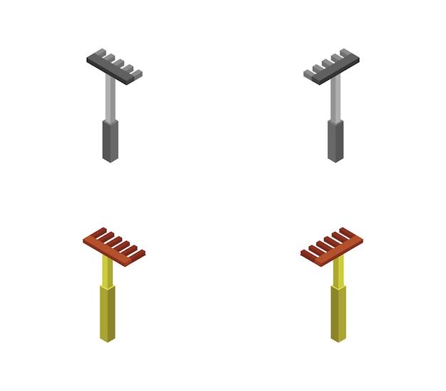Conjunto de ancinho isométrico