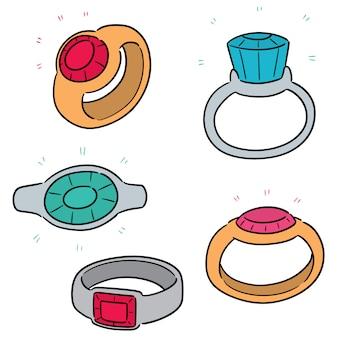 Conjunto de anel de casamento