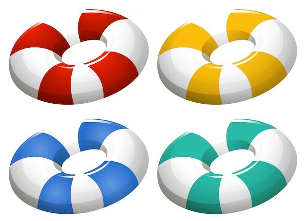 Conjunto de anel inflável