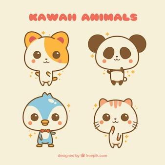 Conjunto de animais de kawaii