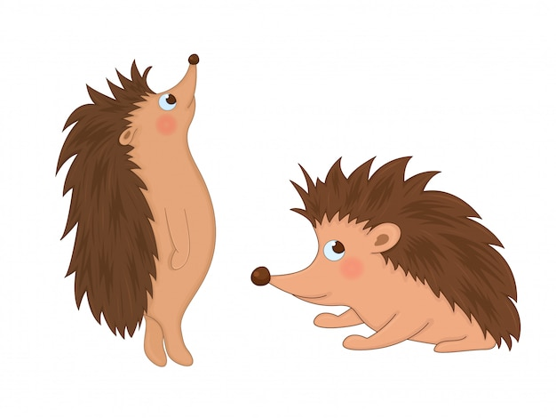 Conjunto de animais em vetor isolado. bonitos ilustrações de animais dos desenhos animados