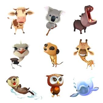 Conjunto de animais