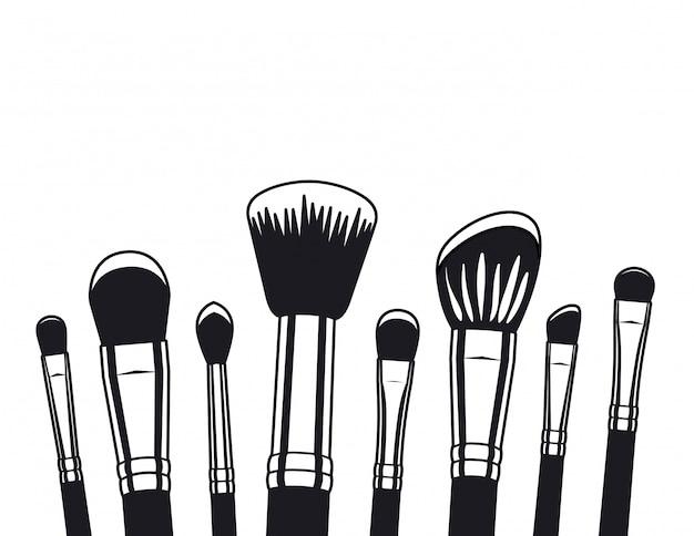 Conjunto de aplicadores de maquiagem pincéis acessórios