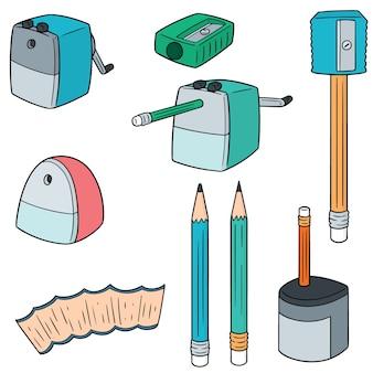 Conjunto de apontador de lápis