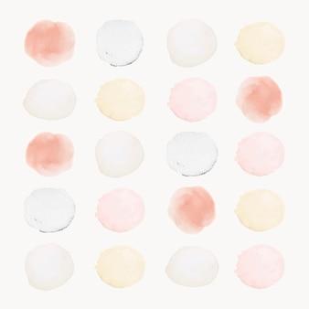 Conjunto de aquarela de elemento de design de amostra pastel