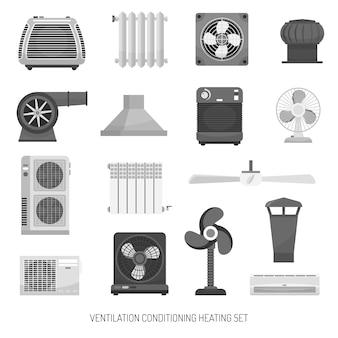 Conjunto de aquecimento de ventilação condicionado