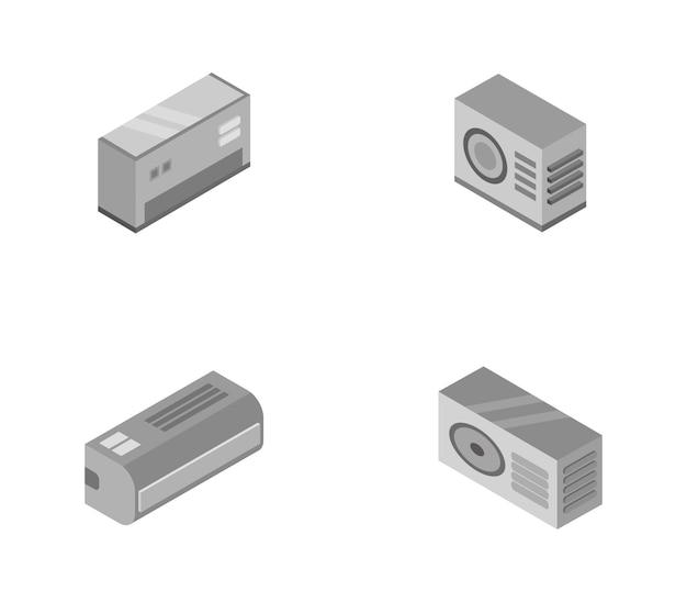 Conjunto de ar condicionado isométrico
