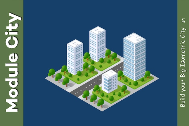Conjunto de áreas urbanas de módulos
