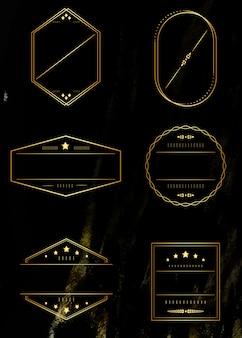 Conjunto de armações douradas