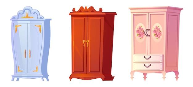 Conjunto de armários barrocos de desenho animado