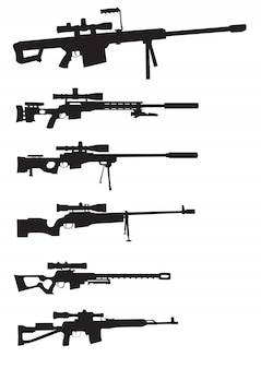Conjunto de armas de atirador furtivo