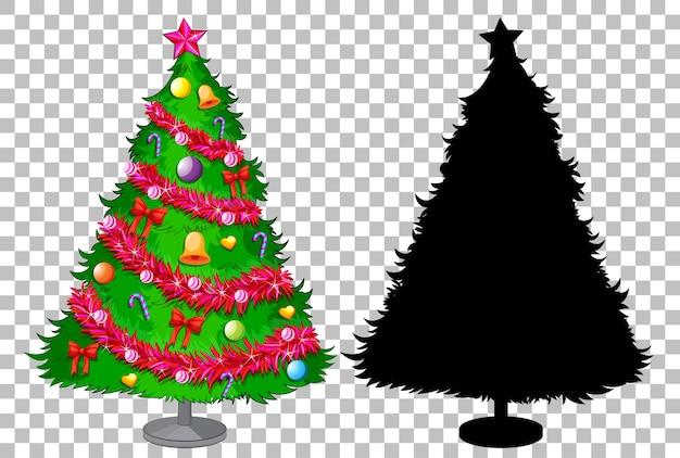Conjunto de árvore de natal transparente