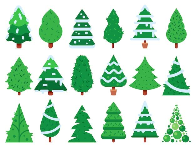 Conjunto de árvore de natal verde