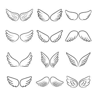 Conjunto de asas de anjo bonito