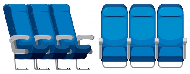 Conjunto de assento de avião