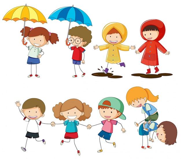 Conjunto de atividade de crianças
