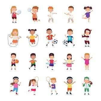 Conjunto de atividades infantis