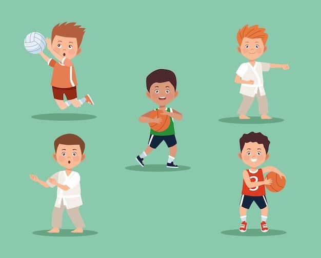 Conjunto de atividades para meninos