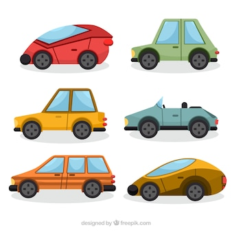 Conjunto de automóveis geométricas