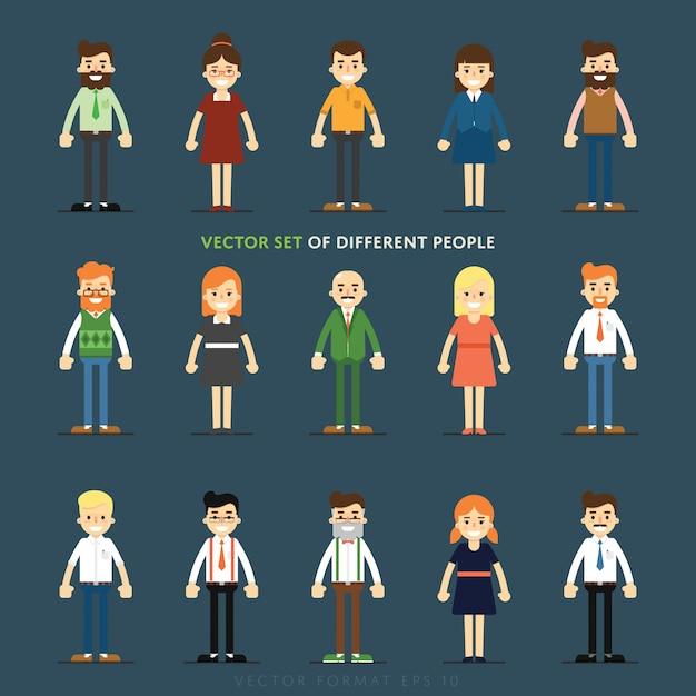 Conjunto de avatar de pessoas