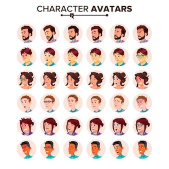 Conjunto de avatar de pessoas.