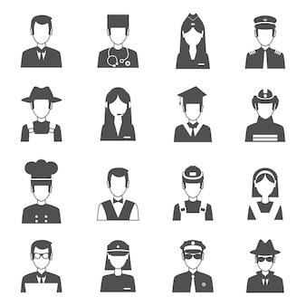 Conjunto de avatar de profissão