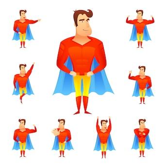Conjunto de avatar de super-heróis