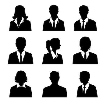 Conjunto de avatares de negócios