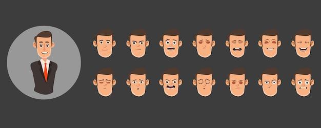 Conjunto de avatares masculinos