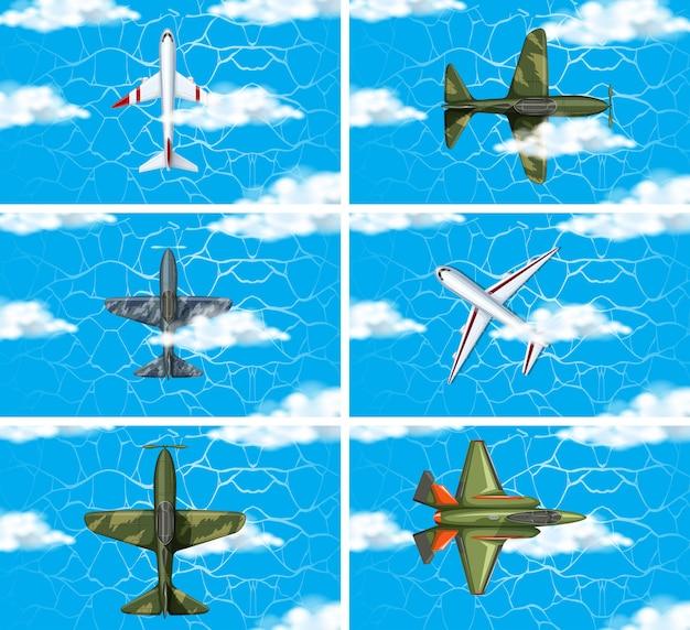 Conjunto de avião de força do exército