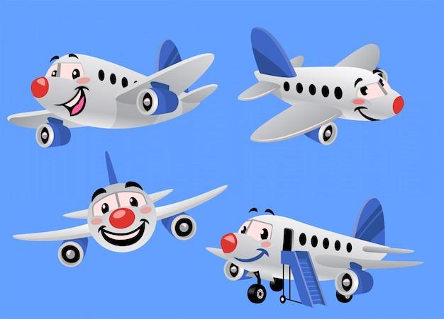 Conjunto de avião dos desenhos animados