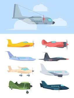 Conjunto de aviões elegantes