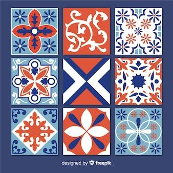 Conjunto de azulejos decorativos