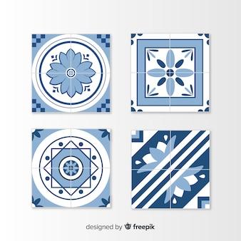 Conjunto de azulejos em estilo simples