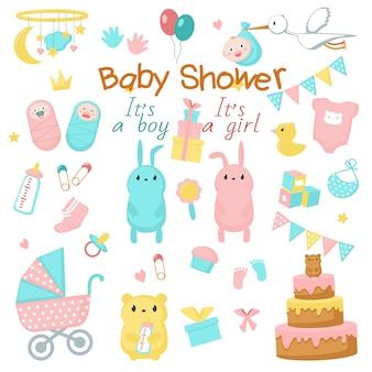 Conjunto de baby shower