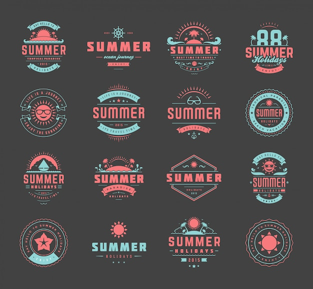 Conjunto de badget de verão