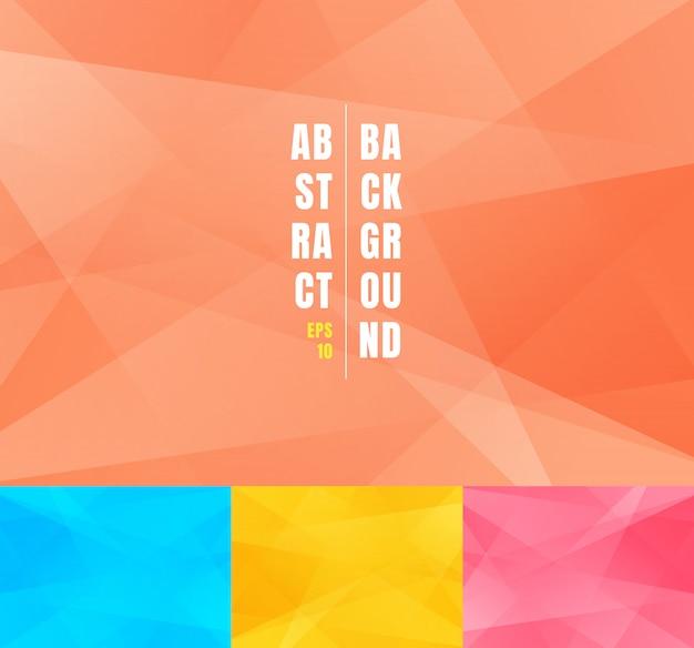 Conjunto de baixo poli abstrato moderno