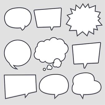 Conjunto de balão de fala simples