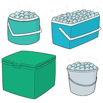 Conjunto de balde de gelo