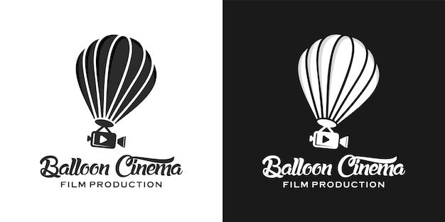 Conjunto de balões de ar com logotipo de produção de filme