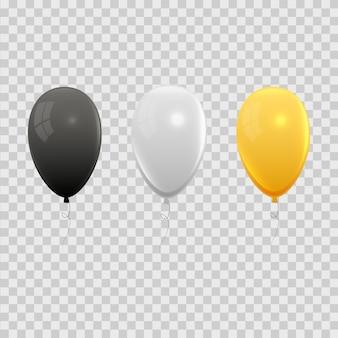 Conjunto de balões de ar realista