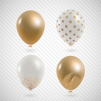 Conjunto de balões de festa elegantes