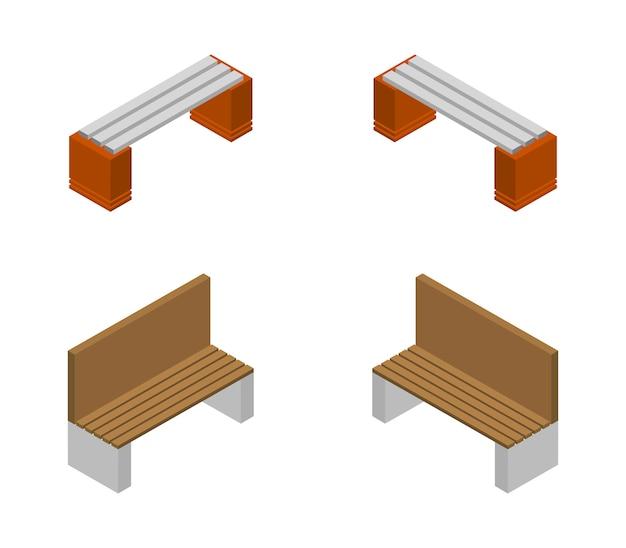 Conjunto de banco isométrico