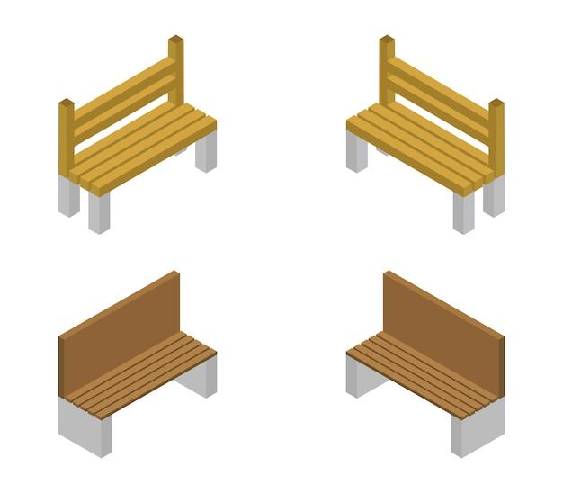 Conjunto de bancos isométricos