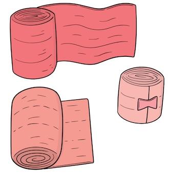 Conjunto de bandagem médica