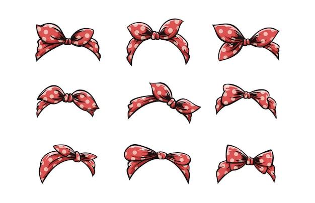 Conjunto de bandana retrô para penteados femininos