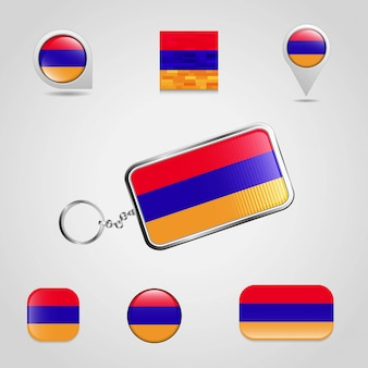 Conjunto de bandeira da arménia