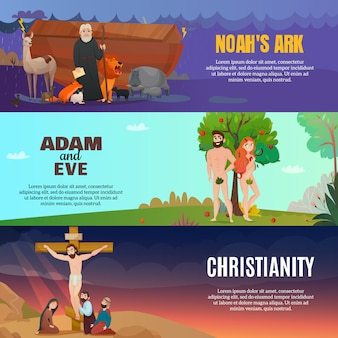 Conjunto de bandeiras da história da bíblia