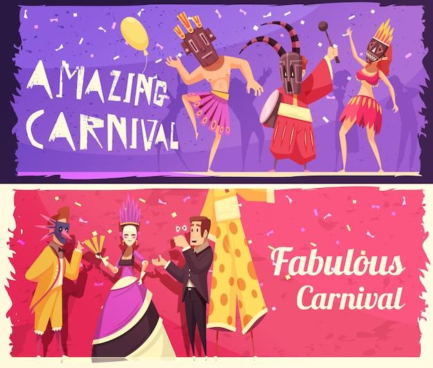 Conjunto de bandeiras de carnaval
