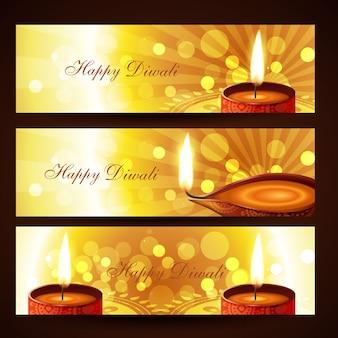 Conjunto de bandeiras de diwali